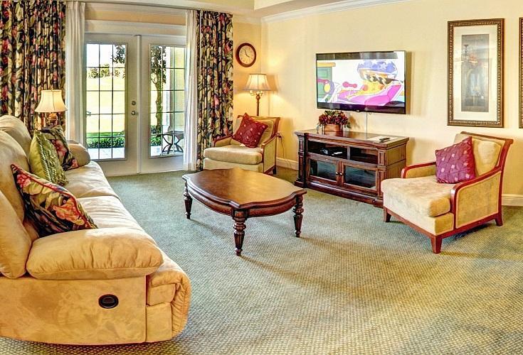 Reunion Resort community in Kissimmee florida living room