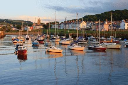 Aberaeron harbour full of fab restaurants and pubs