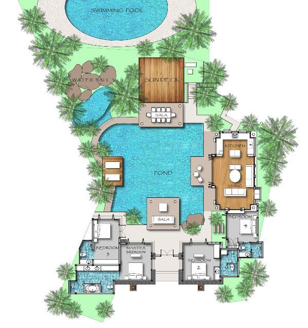Der Grundriss der villa