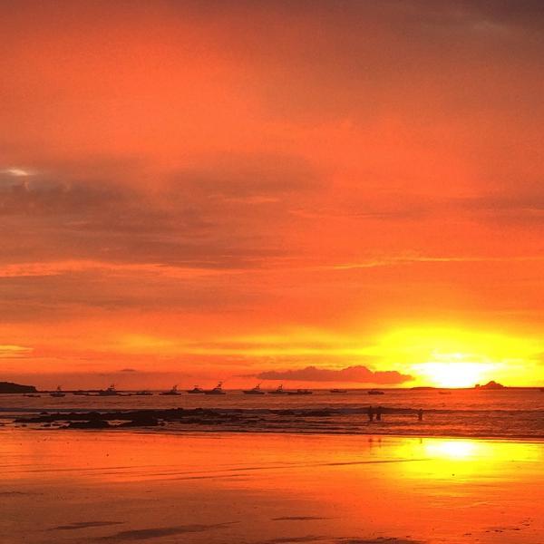 Sunset at Tamarindo beach. Pura Vida