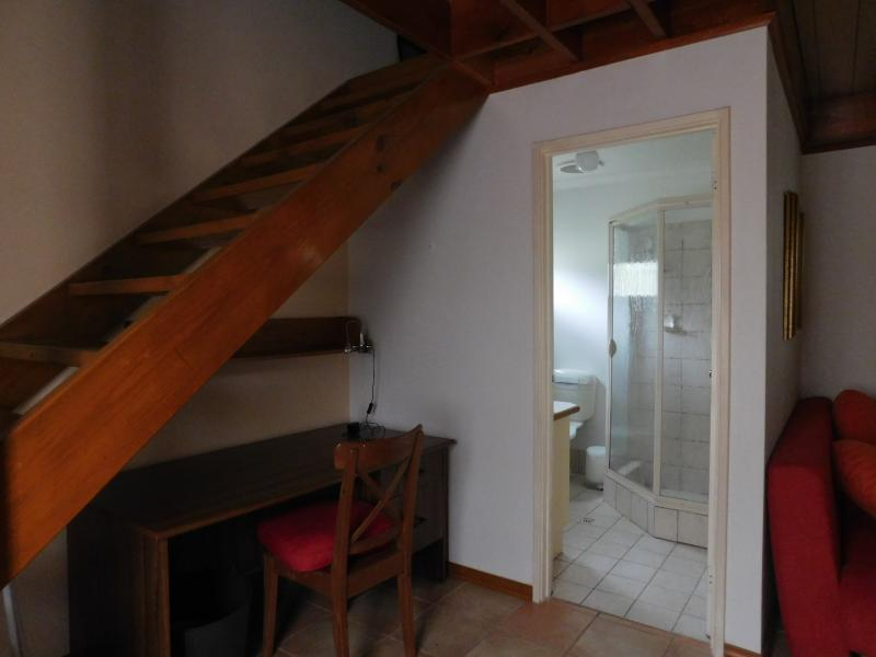 Bathroom and staircase to bedroom