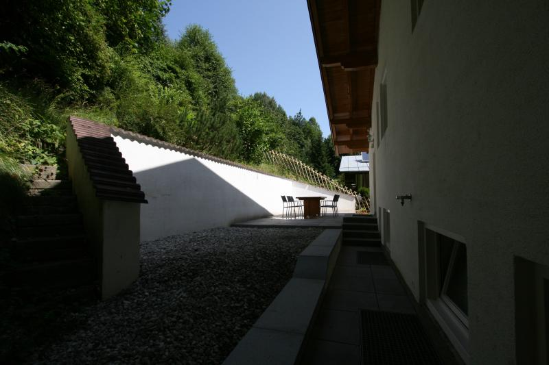 Private terrace to 'smaller' appartement. View over Kaprun
