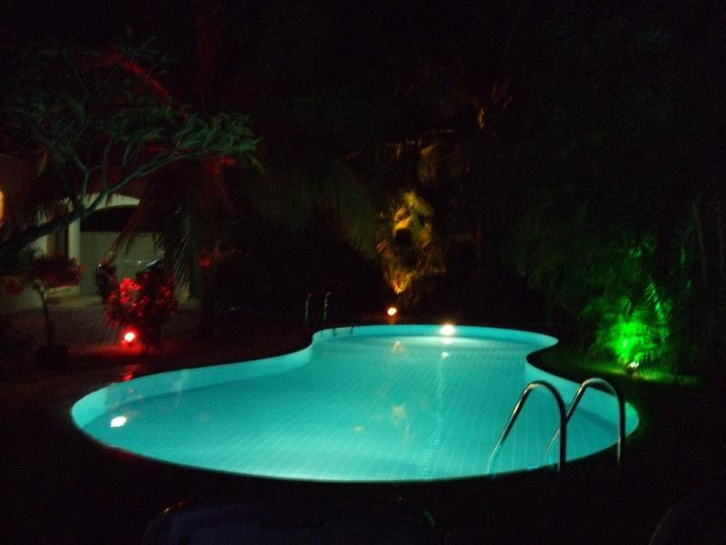 The Pool and Gardens are Beautifully Lit at Night