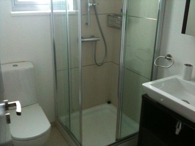 Salle de bains moderne avec salle de bains (en bas)