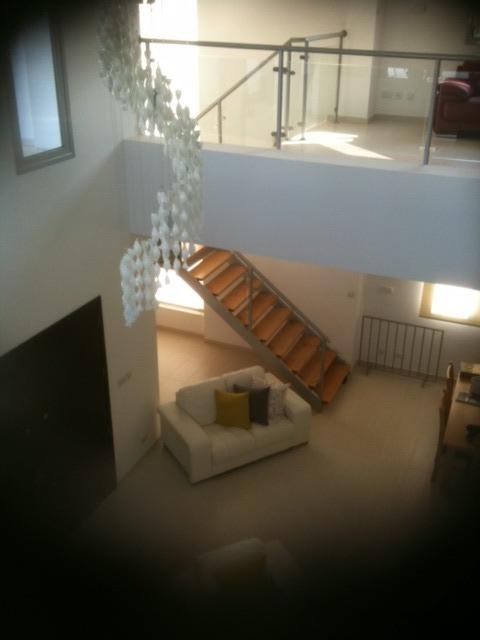 open plan communal area (view from upstairs)