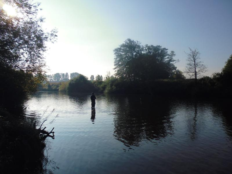 Early morning Fishing on the Wye