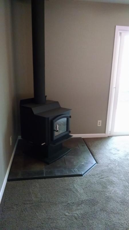 Renovation 2015-New Wood Stove/Carpet/Slider-Living Room