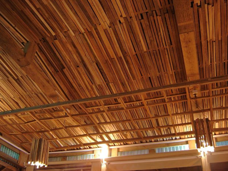 La Amistad Cottages La Barbacoa Lounge Barbecue ceiling - a matter of sustainability