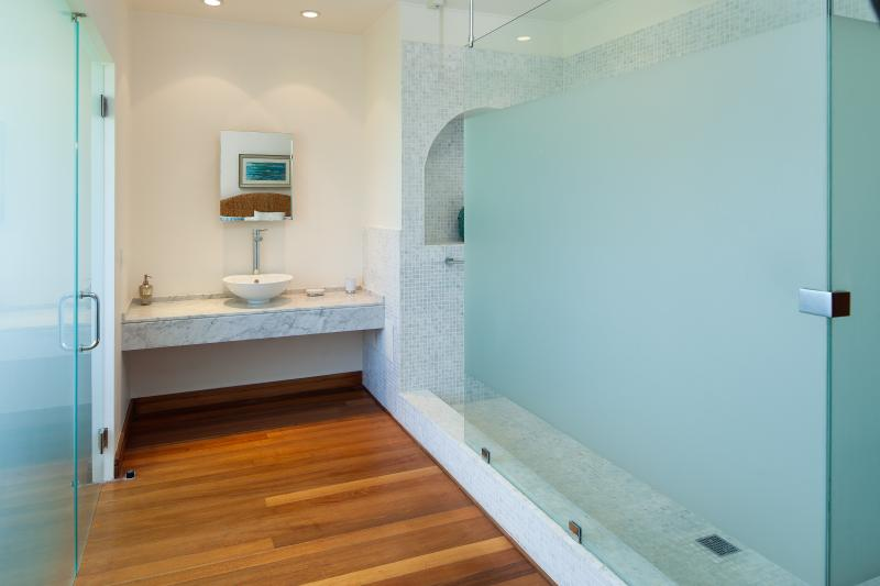 And its shower room...