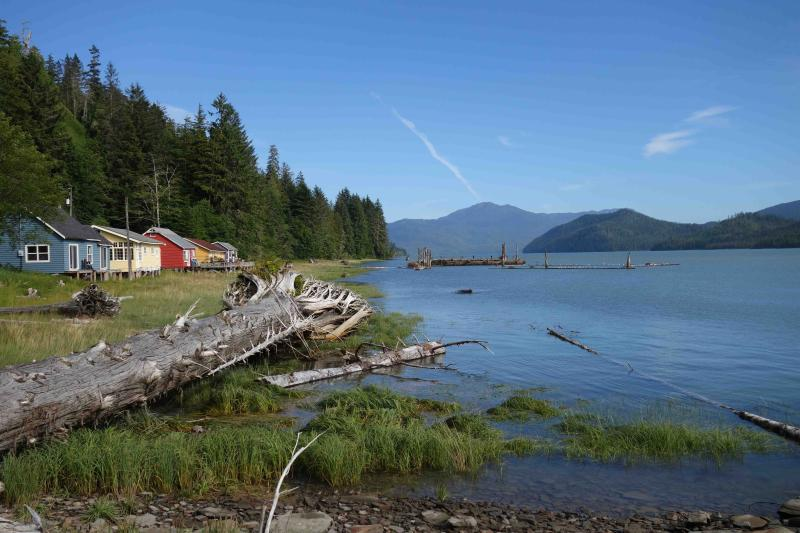 Cassiar Cannery - iconic Guest Houses looking towards the mouth of the Skeena River