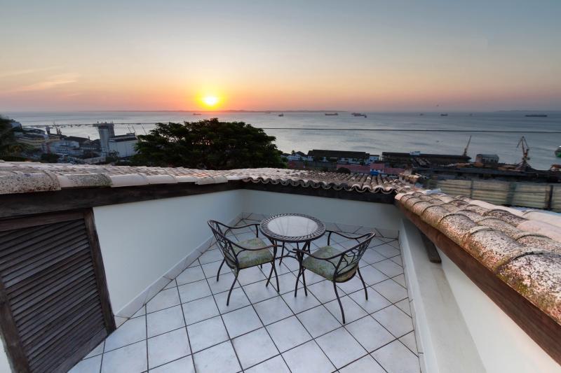 Vista desde la terraza del apartamento Todos Santos Bay view
