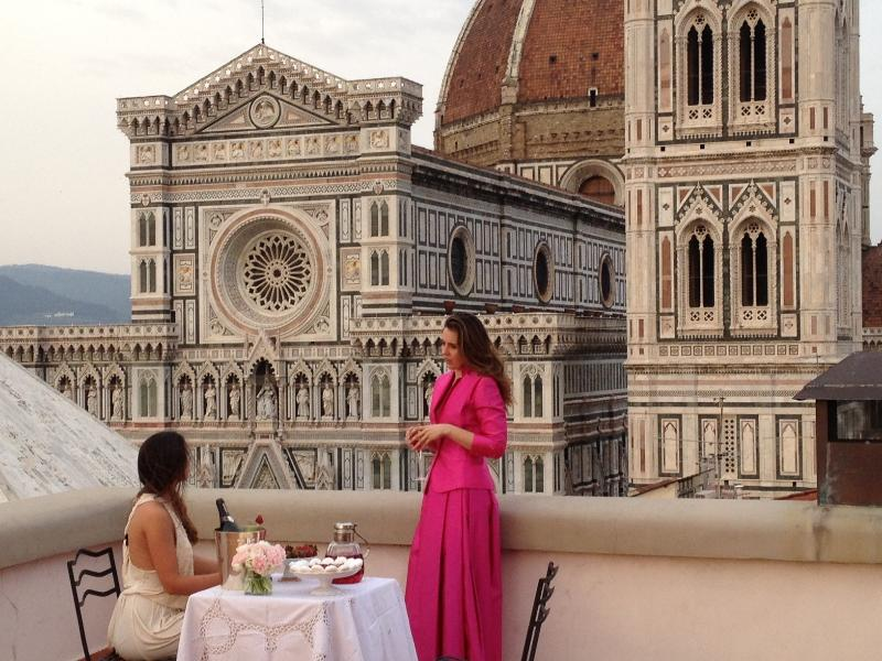 The terrace and the View on the Dome