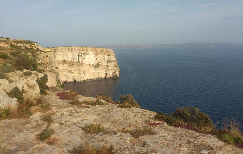 Ta' Cenc cliffs, 5 minute walk away from the apartment
