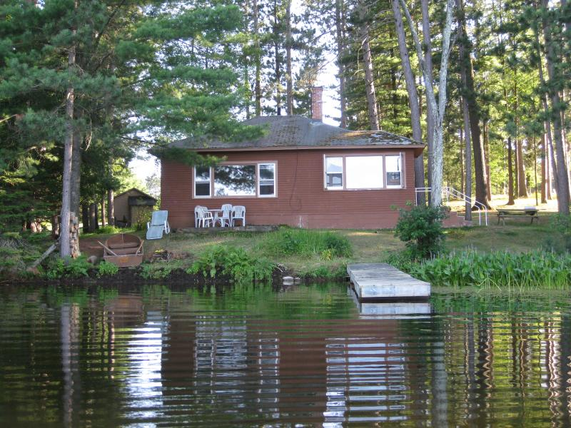 Lakefront living at it's finest in this nostalgic cabin built in the 1930's. Relax and enjoy.