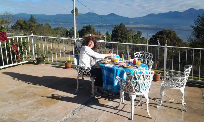 dining ''al fresco'' on the terrace