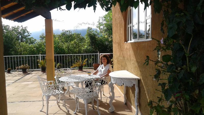 dining ''al fresco'' on terrace, under portal