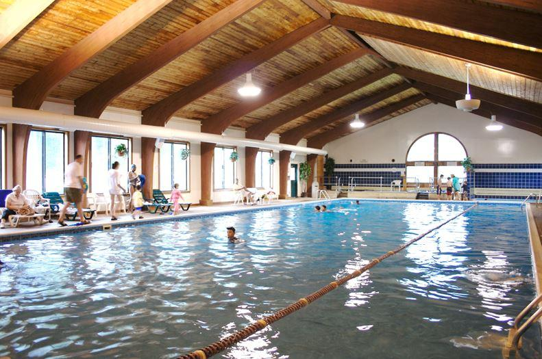 You will receive passes to the indoor pool at the Club.  Walking distance from the resort.