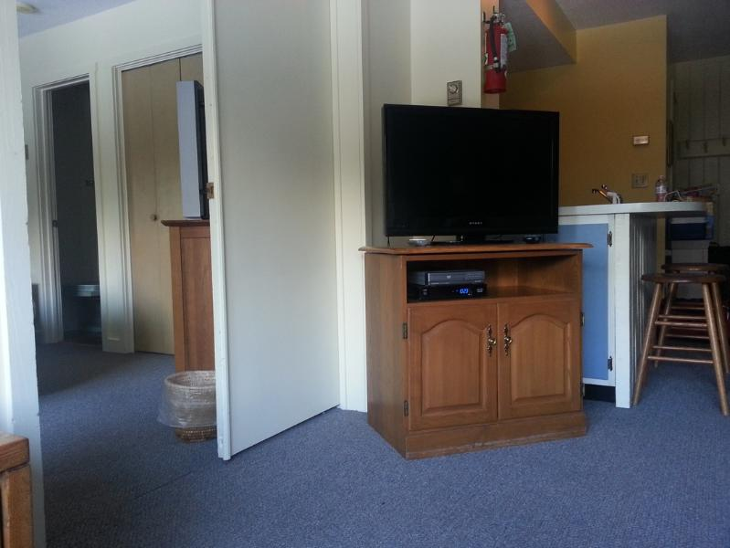 Two TV's.  One in living room and one in bedroom.