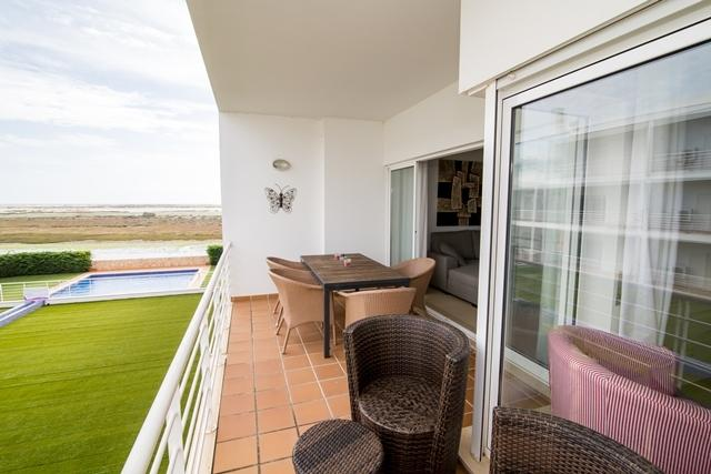 Terrace overlooking the Ria Formosa Nature Reserve