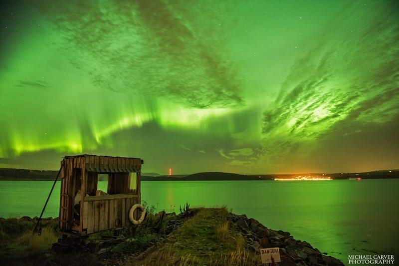 STUNNING PHOTO #NORTHERNLIGHTS AT BOTHY BY THE SEA INVERNESS OCTOBER 2015
