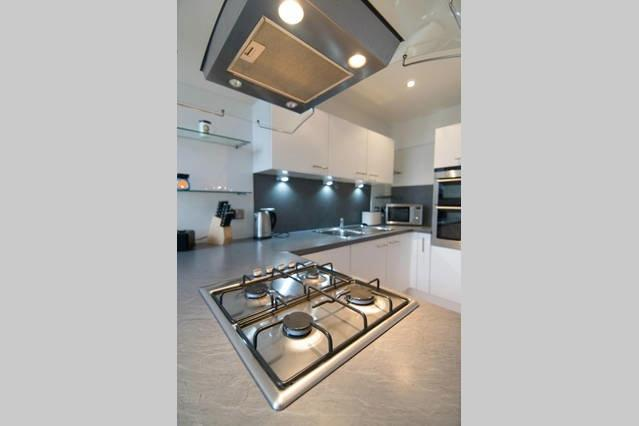 Kitchen with Gas Hob in focus..