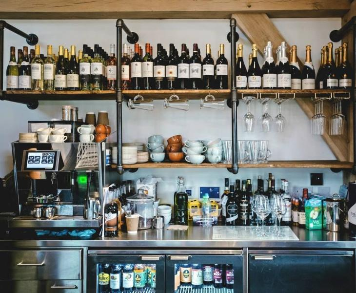 Fully licensed bar at the recently opened Balihoos Clubhouse and Restaurant - Cheers !