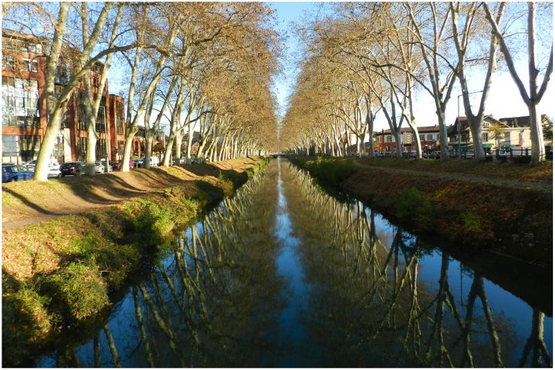 the Brienne canal under a beautiful Sun