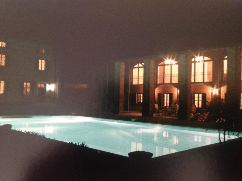 Villa and Stables at night