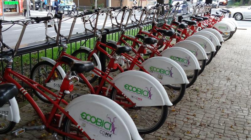 EcoBici, in fron the apartament.