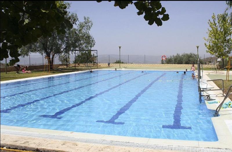The public pool in Canillas de Aceituno