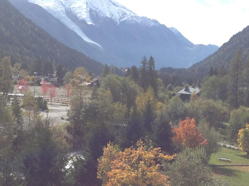 View down the valley from the balcony in Autumn