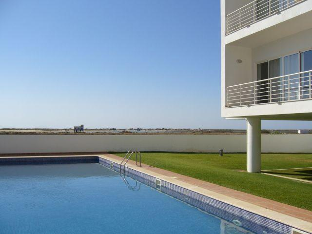 Poolside overlooking Ria Formosa
