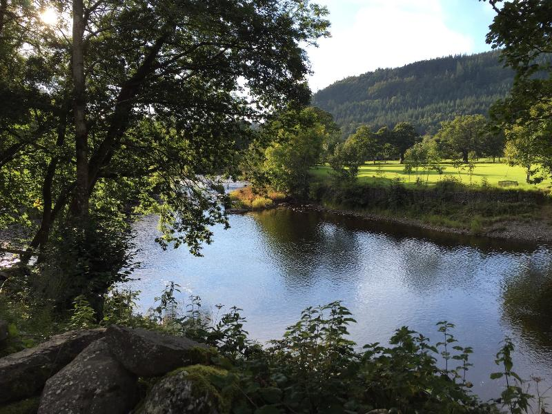 View of the river from the garden