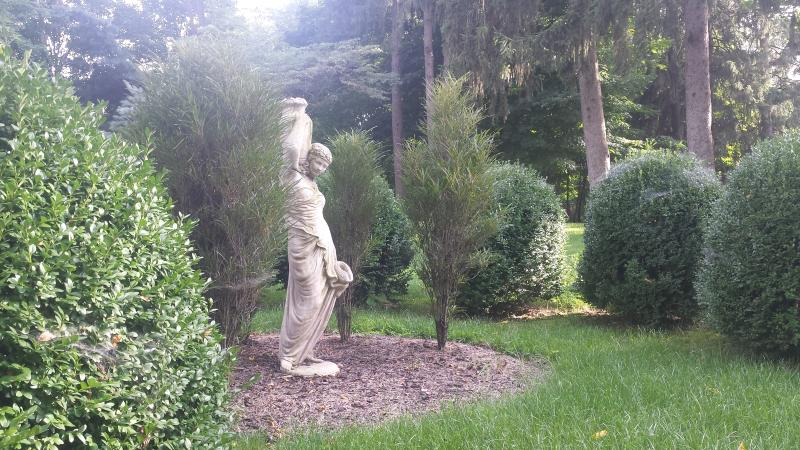 A peaceful focal point on the beautiful grounds of Kownover Farmstead.
