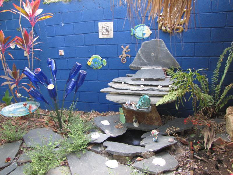 Water feature and bottle Art by Franciscio