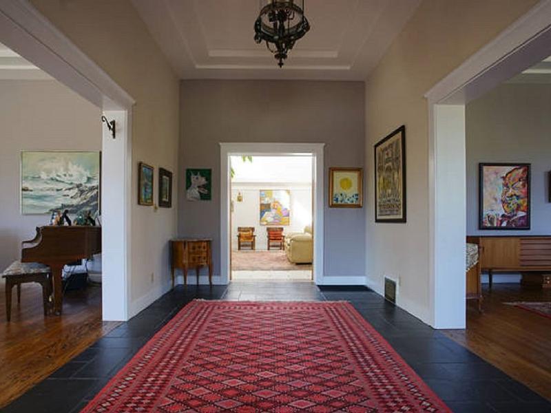 Entry foyer, full of original art, like the entire house.