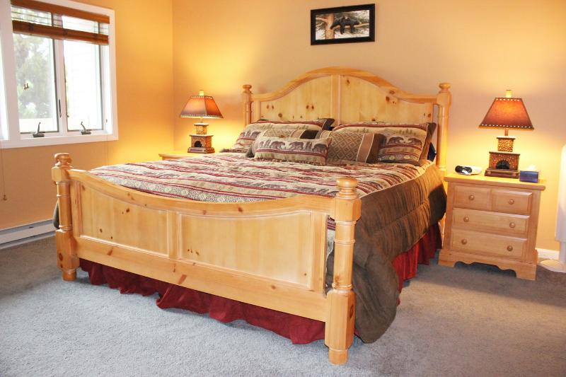 Master Bedroom with King Bed and Full, Private Bathroom.