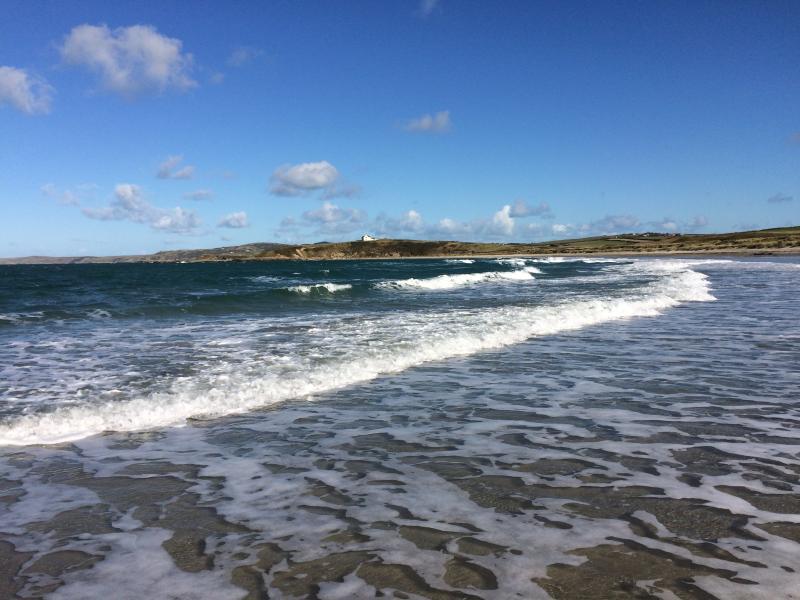 Sandy beach in December