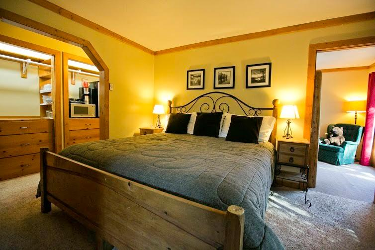 A king size bed in master bedroom.
