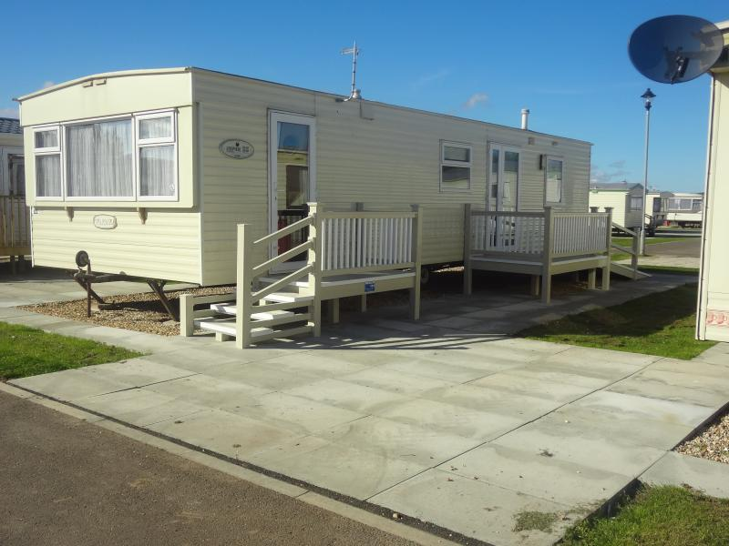 Front of Caravan showing parking area