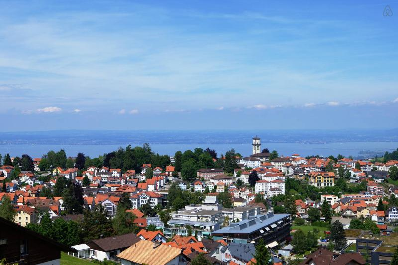 The picturesque village of Heiden is situated in the foothills of the Alps and overlooking the Lake