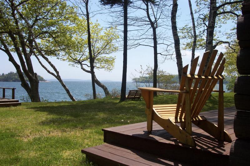 Front deck overlooking water