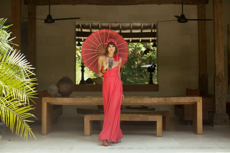 Red Palms Dining Room Fashion Shoot