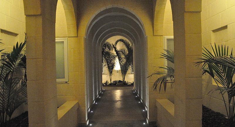 Building hallway lobby