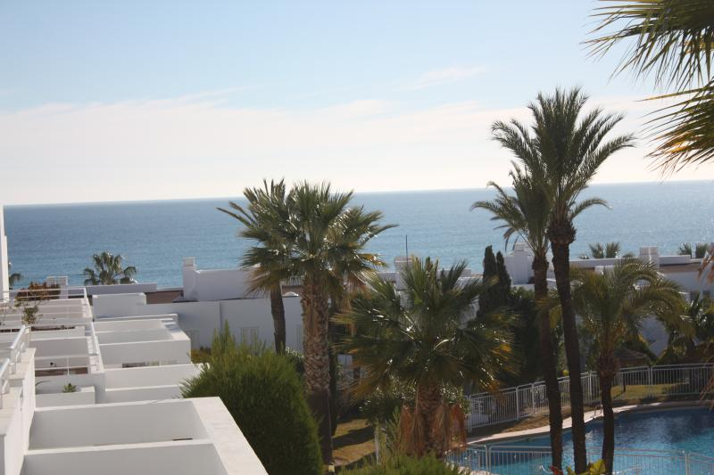 View from Front Terrace to pool and sea