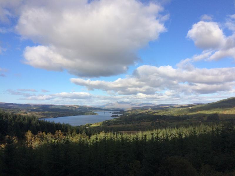 Loch Awe from Leacainn Muir forest drive