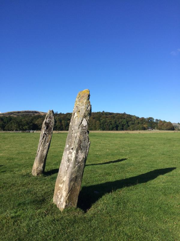 Two of the many standing stones at Kilmartin Glen