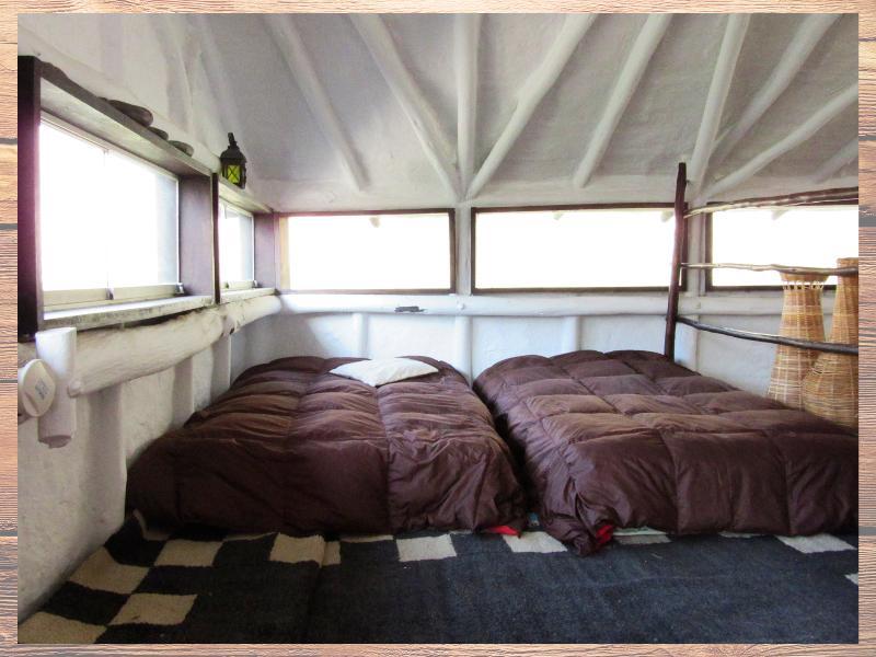 Mezanine, con dos camas de 1 plaza