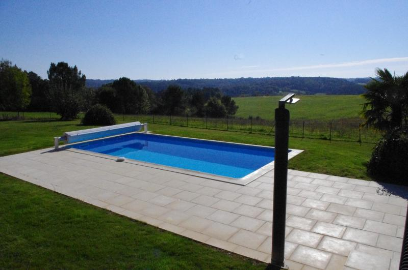 South facing Swimming heated pool