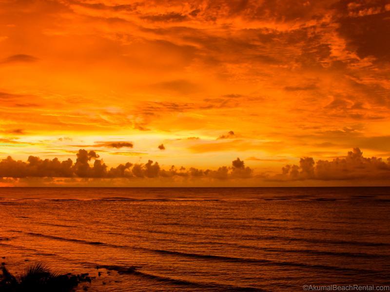 Sunrise from main terrace over Half Moon Bay